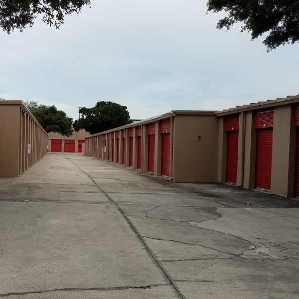 Outdoor units at StorQuest Self Storage in Tampa, Florida