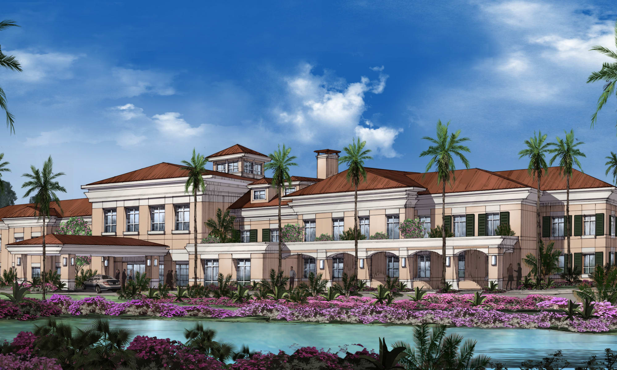 Exquisite senior living facility located in Wellington, Florida