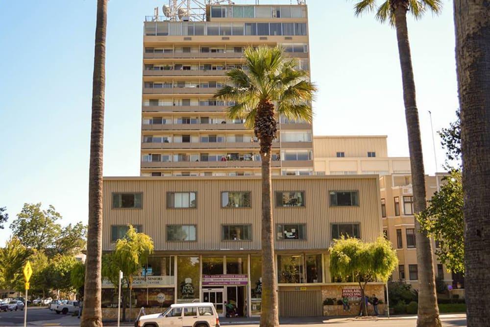 Exterior street view of Park Place Senior Living in Sacramento, California
