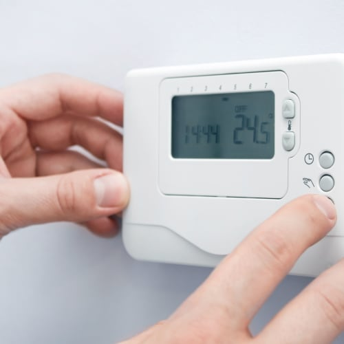 Thermostat at Red Dot Storage in Baton Rouge, Louisiana