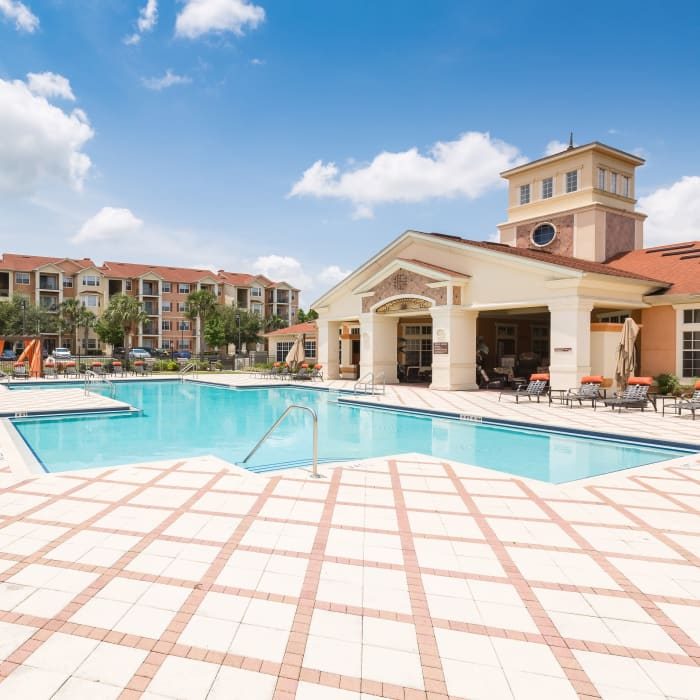 The Aspect has a beautiful swimming pool in Kissimmee, Florida