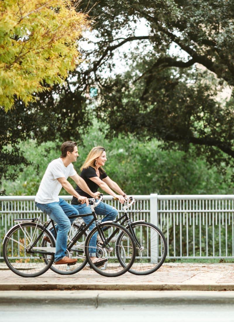 Couple biking near Katy, Texas from Marquis at Katy