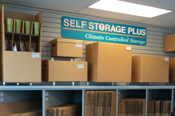 Storage boxes for sale at Self Storage Plus in Woodbridge, VA