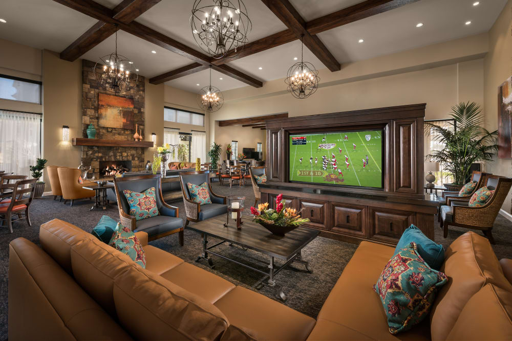 Lavishly decorated resident clubhouse at San Villante in Mesa, Arizona