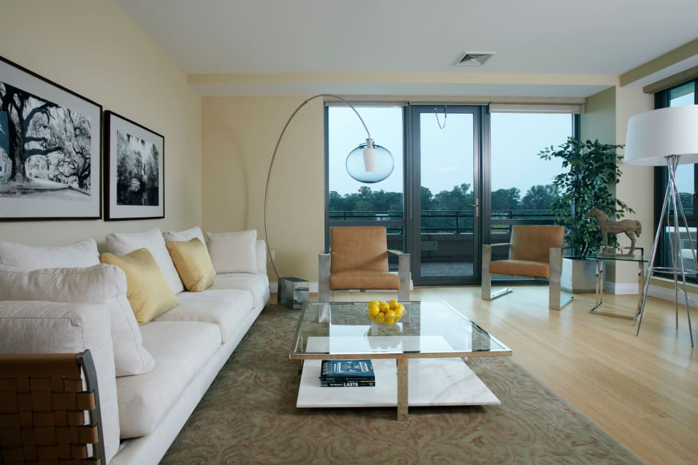 Living Room at Monarch at Ridge Hill in Yonkers, New York