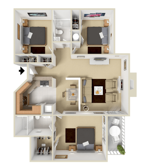 3 Bedroom 1170 sq.ft  apartments in Westminster, Colorado
