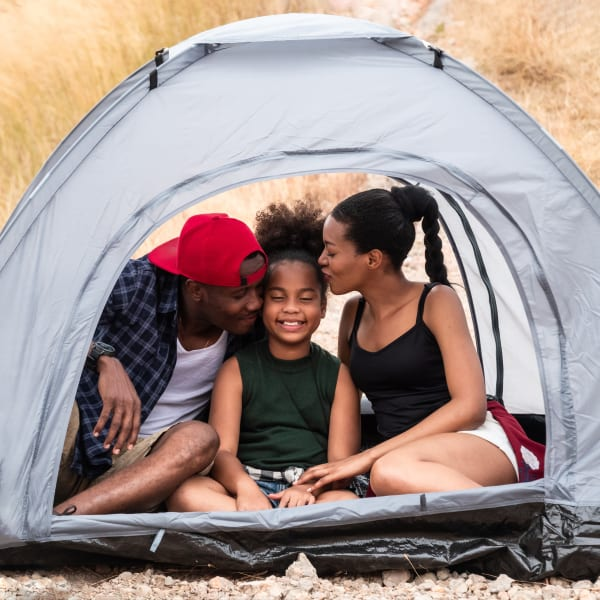 Family camping near Sonoma Palms in Las Cruces, New Mexico
