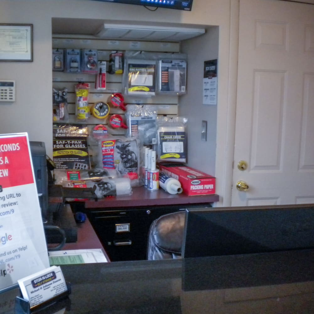Inside the welcoming office at STOR-N-LOCK Self Storage in Salt Lake City, Utah