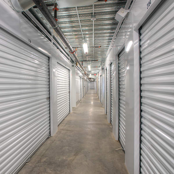 Climate-controlled indoor units at StorQuest Self Storage in North Miami Beach, Florida