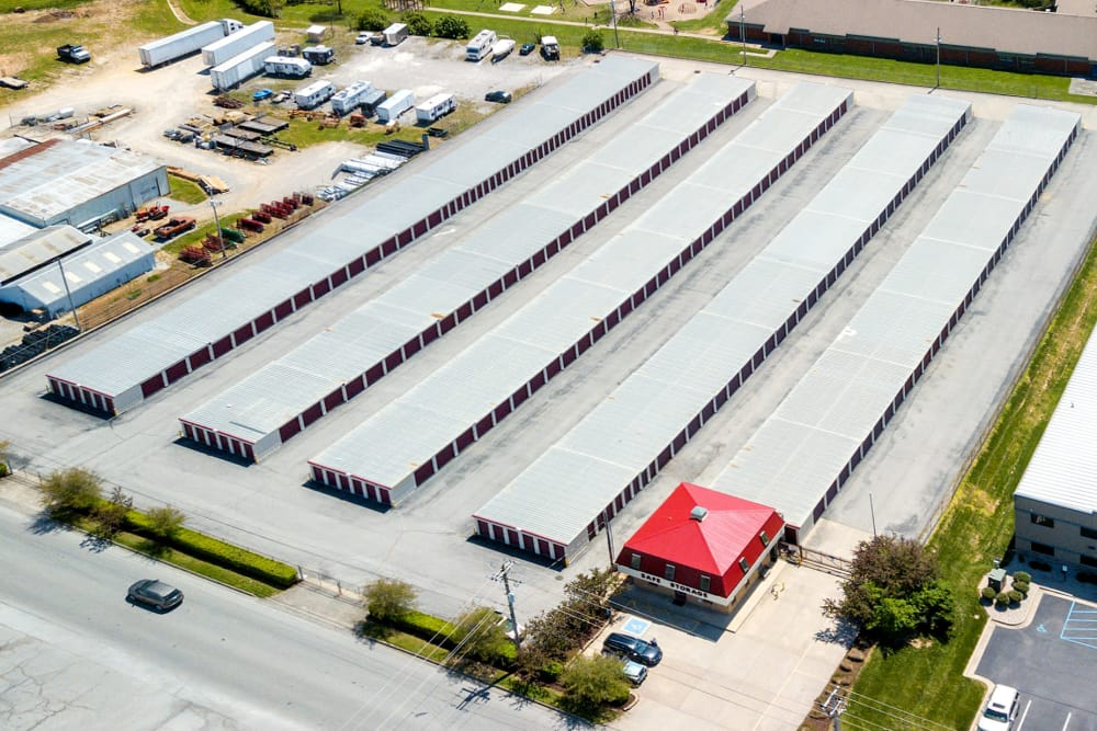 Aerial view of Safe Storage in Nicholasville, Kentucky