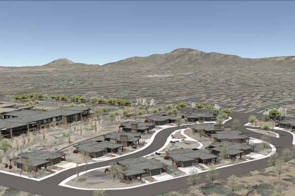 Aerial view of new expansion at Merrill Gardens at Anthem in Anthem, Arizona.