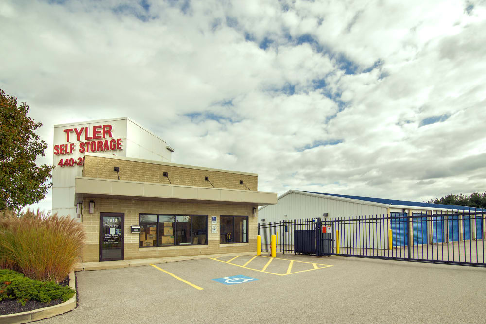Exterior image of Tyler Self Storage in Mentor, Ohio