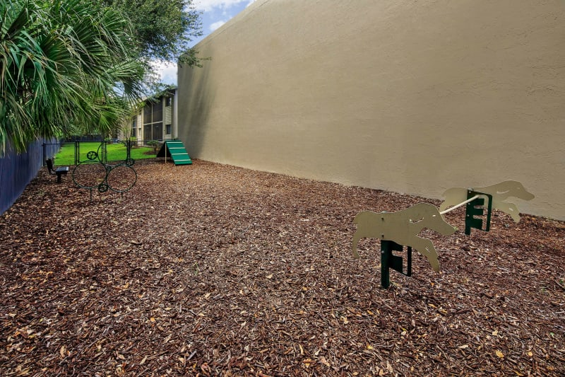 Onsite dog park at WestEnd At 76Ten in Tampa, Florida