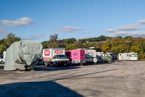 RV parking at Lockaway Storage in San Antonio, Texas