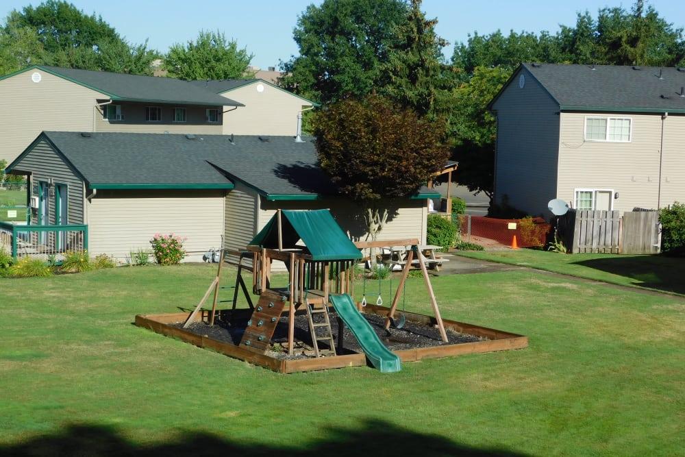 Enjoy apartments with a spacious playground at Lakeside Apartments