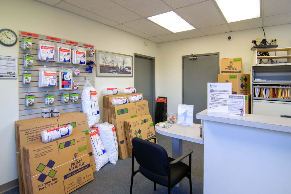 Packing supplies at Prime Storage in Glenville, NY