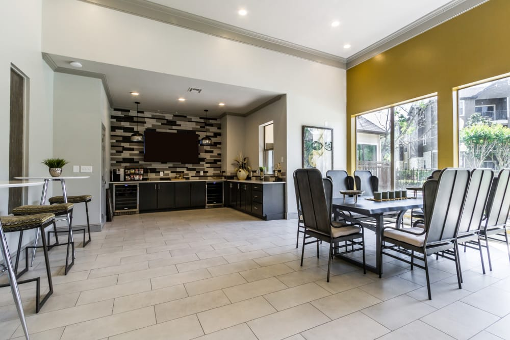 A great-for-entertaining clubhouse at Legacy at Cypress in Cypress, Texas