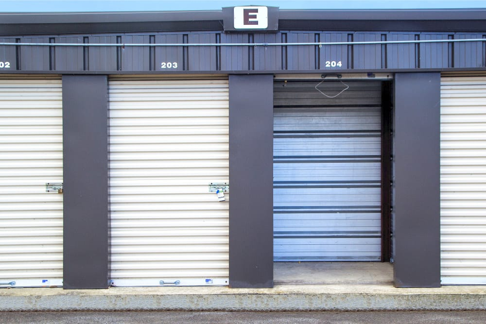Drive-up locker unit at Prime Storage in Green Island, NY