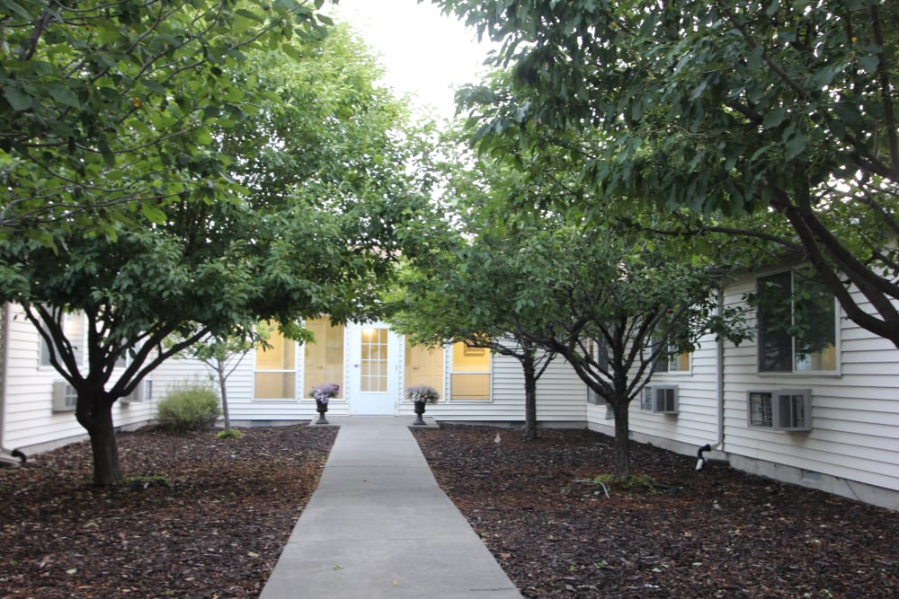 Back courtyard for resident use at The Willows Retirement & Assisted Living in Blackfoot, Idaho
