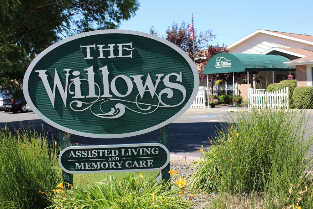 Signage for The Willows Retirement & Assisted Living in Blackfoot, Idaho