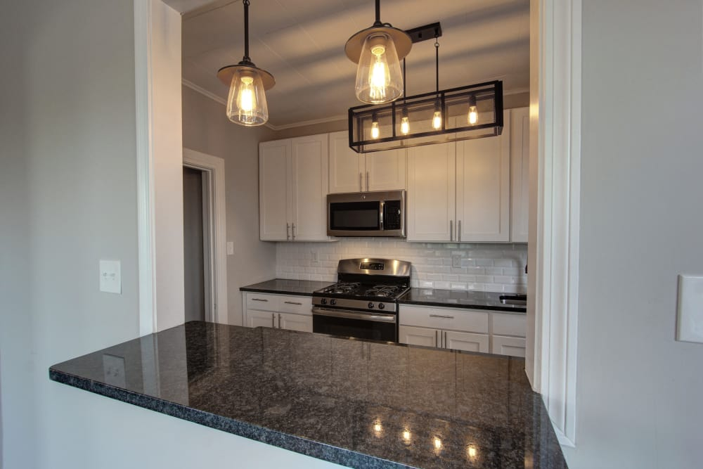 Fully equipped Kitchen room at The Packard in West Hartford, CT