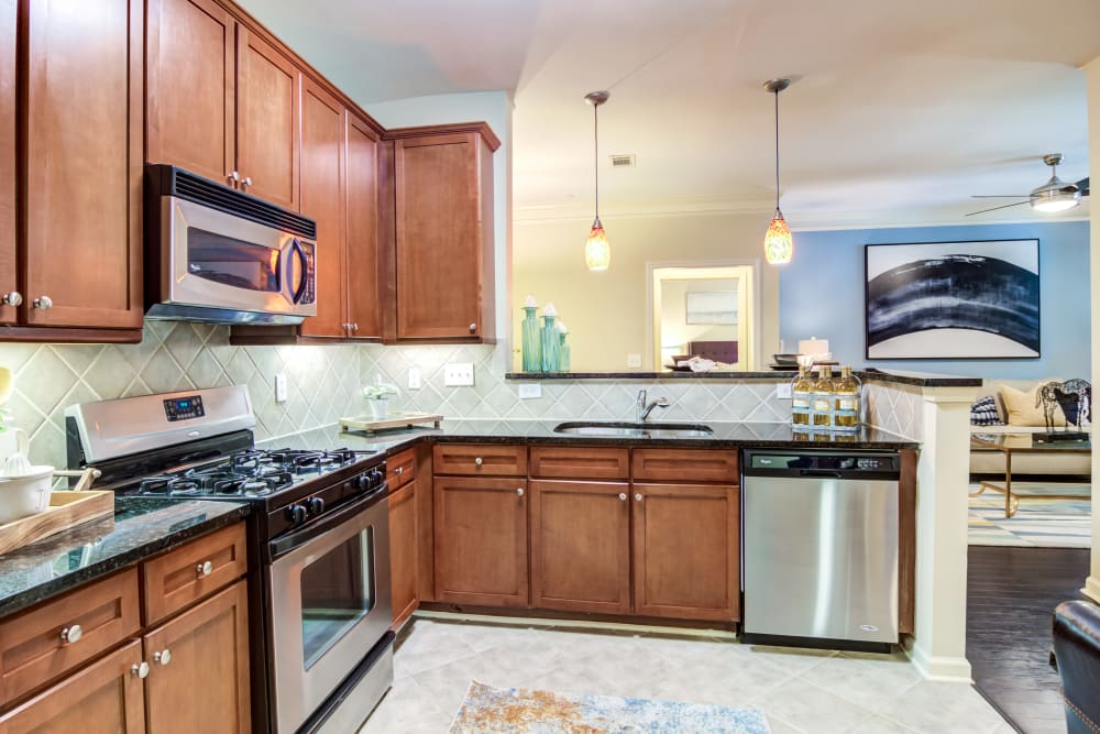 kitchen at The Reserve at Johns Creek Walk
