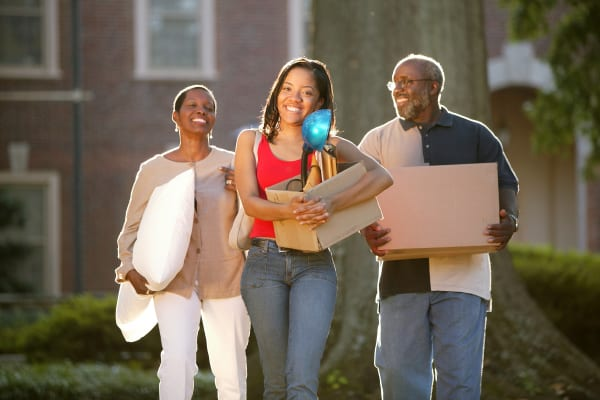 Family using Box Self Storage Units moving supplies