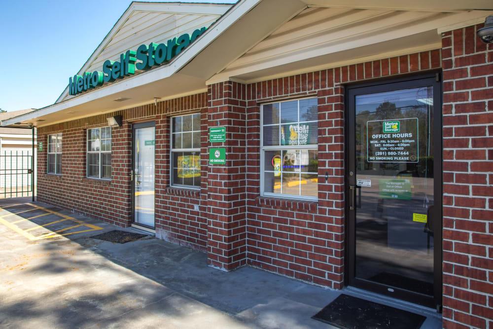 Office entrance at Metro Self Storage in Houston, Texas