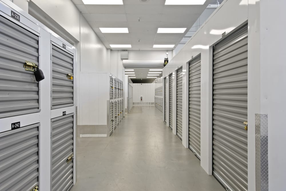 Climate controlled storage units at East Sac Self Storage in Sacramento, California