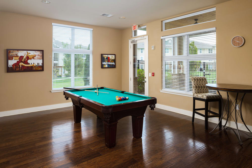 Pool table in the clubhouse at The Preserve at Hardin Valley in Knoxville, Tennessee