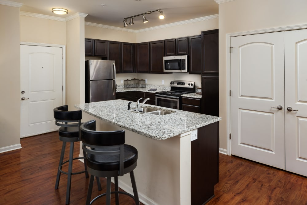 Model kitchen at The Preserve at Hardin Valley in Knoxville, Tennessee