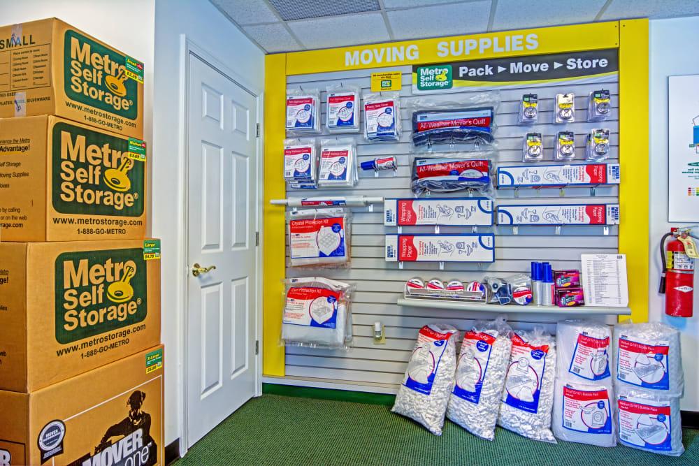 Packaging supplies at Metro Self Storage in Stockbridge, Georgia