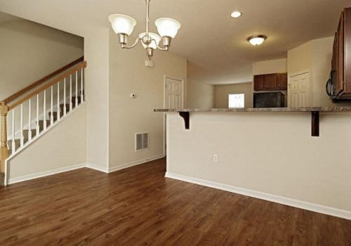 Open floor plan space at Emerald Pointe Townhomes in Harrisburg, Pennsylvania