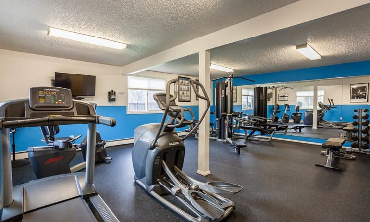 Hilton Village II Apartments fitness center in Hilton, NY