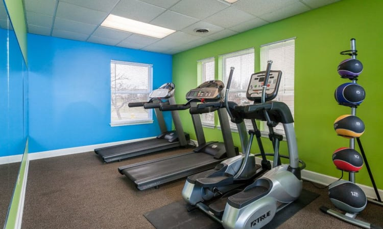 Maplewood Estates Apartments fitness center in Hamburg, NY