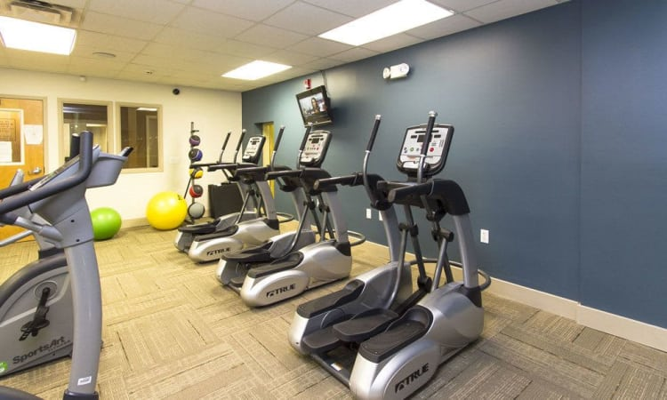 Paradise Lane Apartments fitness center in Tonawanda, NY