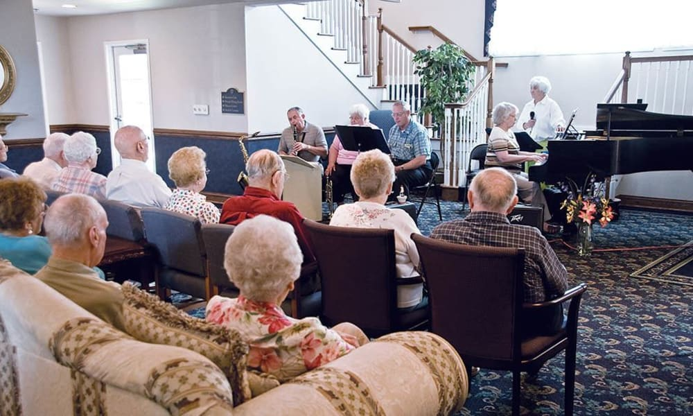 Community concert put on by residents at Randall Residence of Decatur in Decatur, Illinois