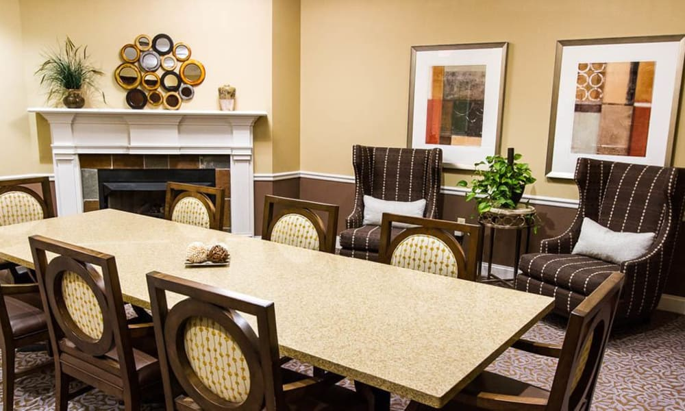 Meeting area at Addington Place at the Mills in Roswell, GA