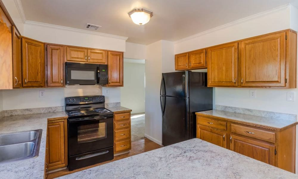 Modern kitchen at Eagle Meadows Apartments in Dover