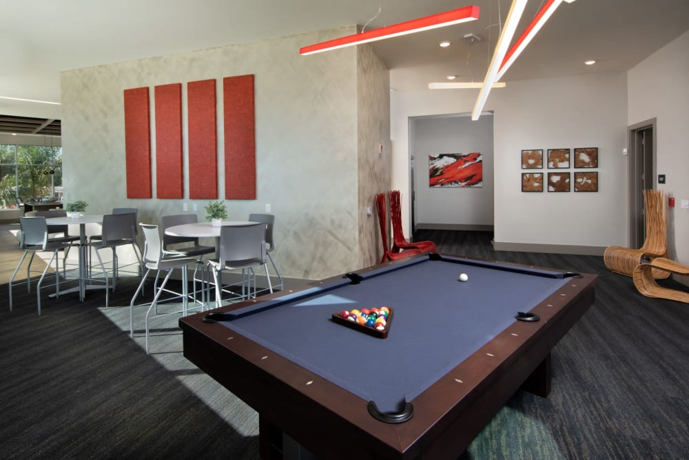 Enjoy a game of pool in the clubhouse at Luxor Club in Jacksonville, Florida