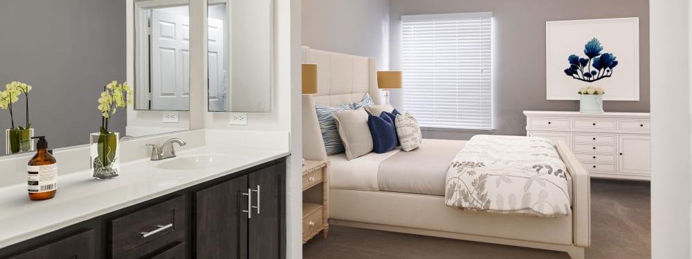 Bedroom at Hawthorn Village Apartments in Napa, California