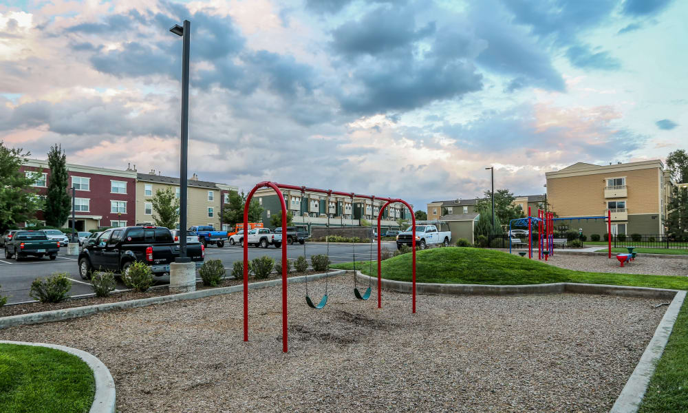 Playground facilities at Belle Creek Apartments in Henderson, Colorado