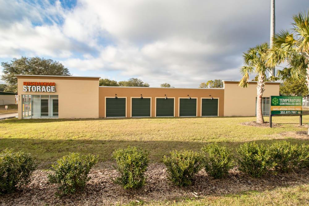 Exterior storage units at Neighborhood Storage in Ocala, Florida