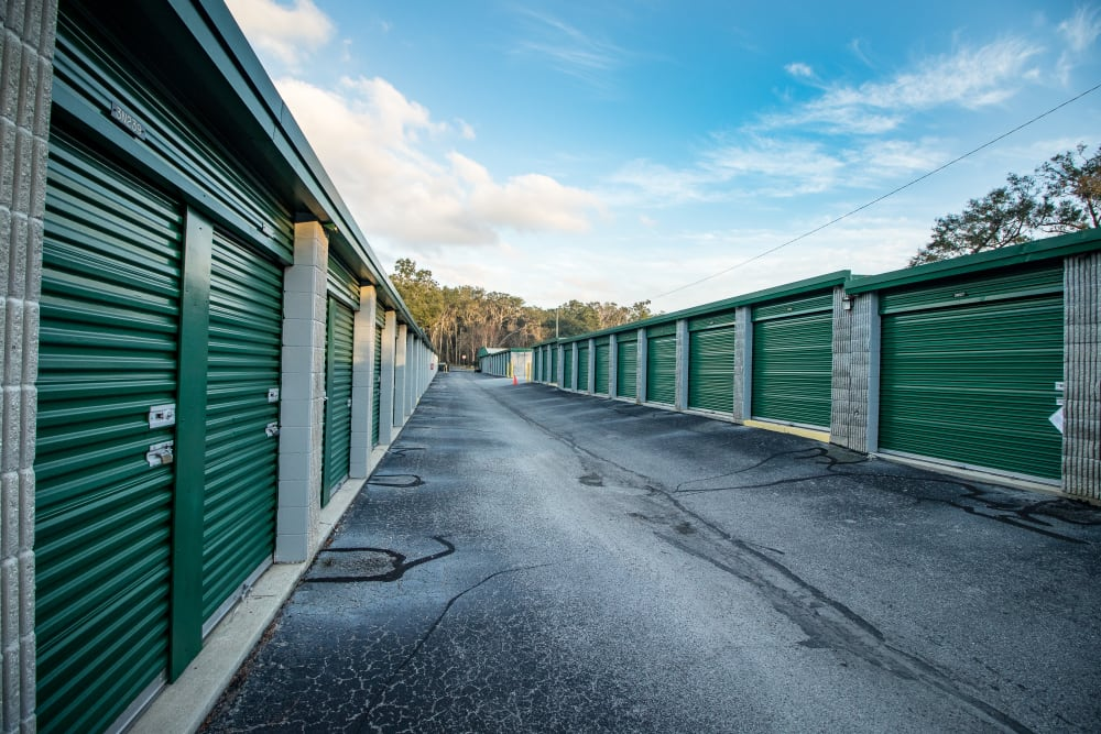 Clean exterior storage units at our self storage facility in Ocala, Florida