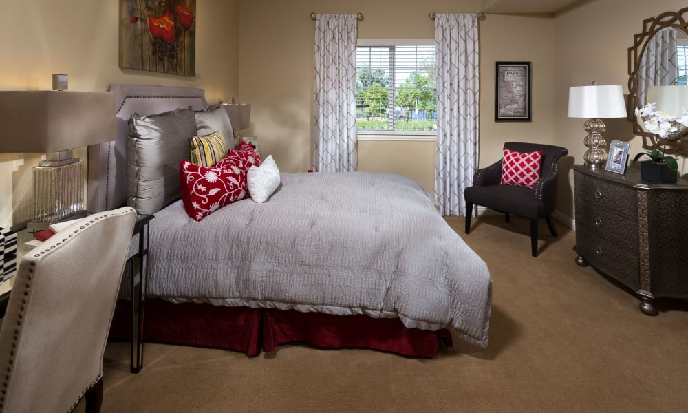 Our senior living community in Corona, California offer a bedroom