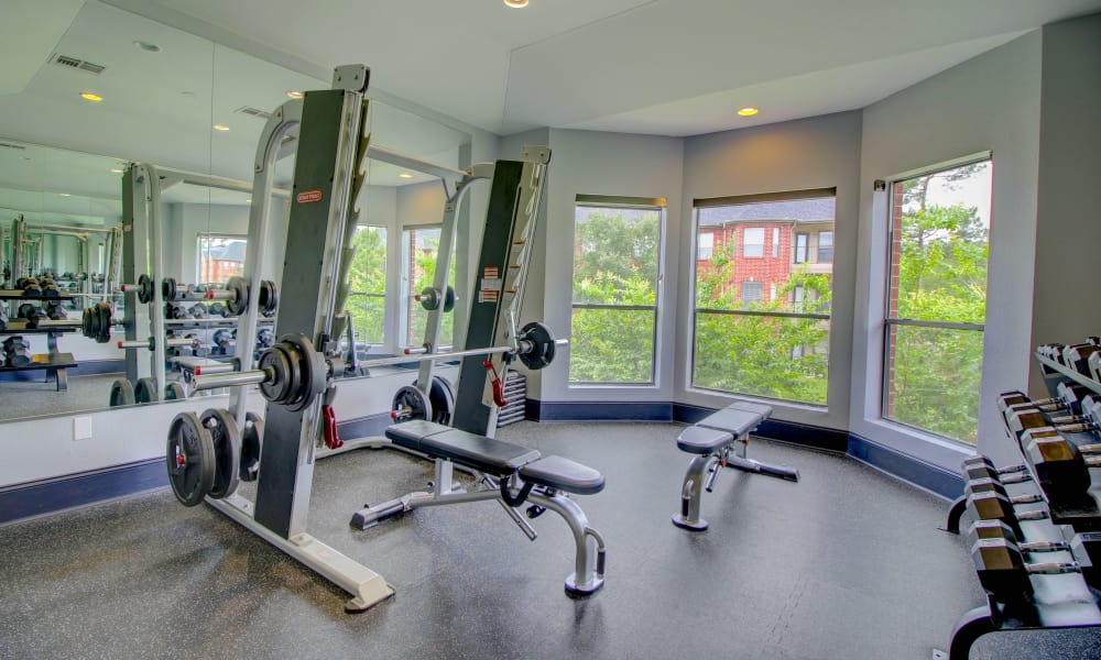 Spacious fitness center at The Park at Research Forest in The Woodlands, Texas