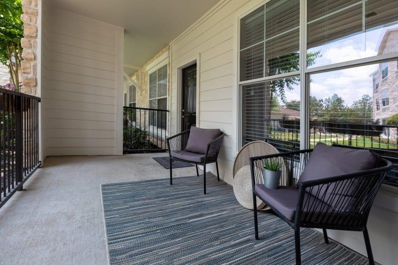 Unit patio at The Retreat at Cinco Ranch in Katy, Texas