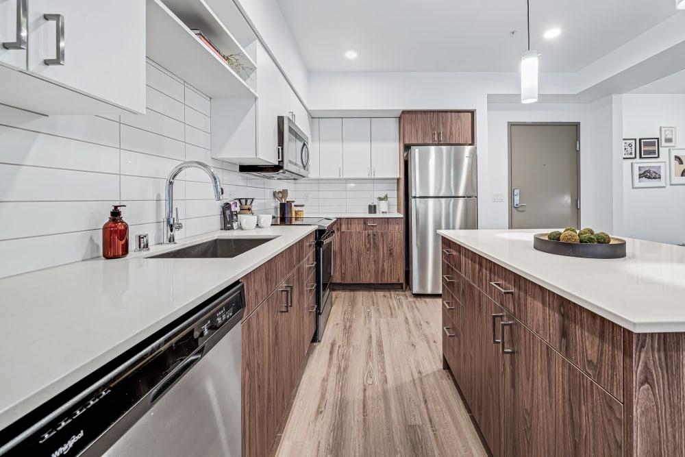 Modern Kitchen at The Verge in Auburn, Washington
