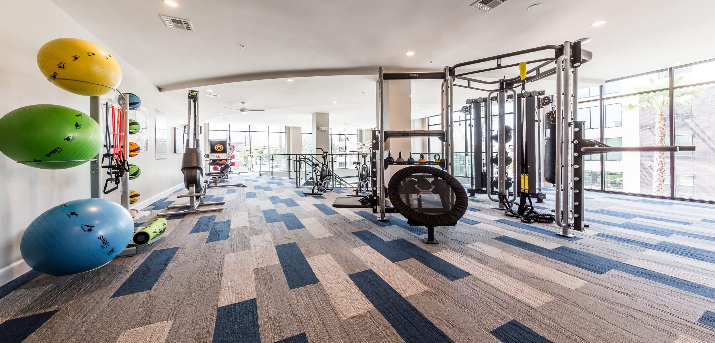 Marq 31's fitness center in Houston, Texas