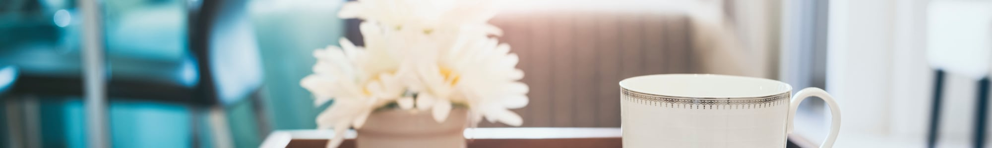 Enjoy a cup of coffee in your new home at Beech Meadow Apartments